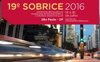 19º Congresso da Sociedade Brasileira de Radiologia Intervencionista e Cirurgia Endovascular (SOBRICE)
